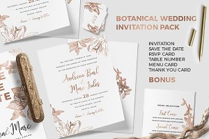 Botanical Wedding Invitation Pack