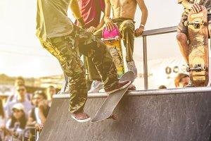 urban city man doing extreme skate t