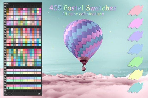 Color Palettes - Pastel Colors Ai Swatches