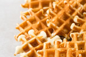 Traditional homemade belgian waffles