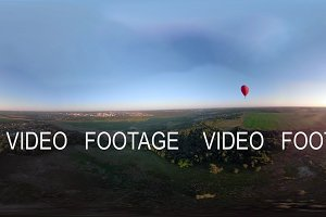 VR360 Hot air balloon in the sky