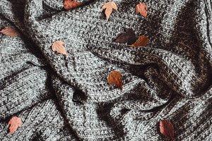 Warm woolen cozy plaid