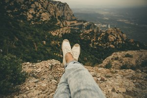 Feet Photo in the Mountains