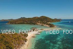 Beautiful tropical island and beach