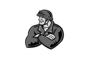 Biker Arms Crossed Mascot