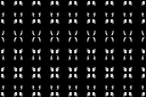 Pixel Art Style Seamless Black and W