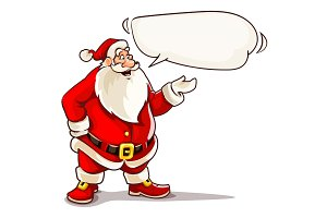 Christmas Santa Claus speaking
