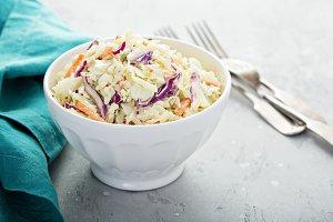 Traditional cole slaw salad
