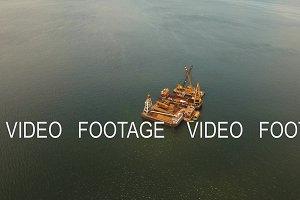 Dredging platform on the sea