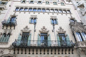 architectural building in Barcelona