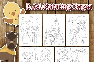 Cute Cinderella Coloring Pages