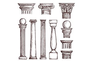 Arabic architecture engraved columns