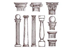 Arabic architecture engraved columns