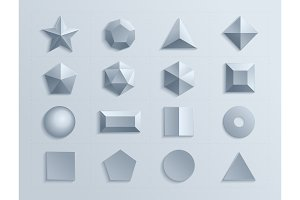 3d shapes template realistic