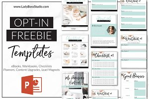 Opt-in Freebie Templates- PowerPoint