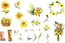 №2 Composition of yellow sunflower