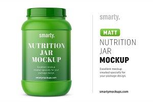 Matt nutrition jar mockup