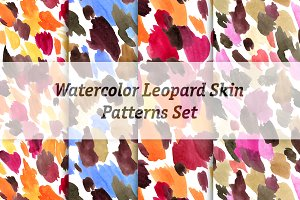 Watercolor leopard skin patterns