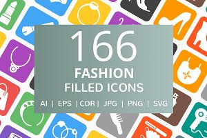 166 Fashion Filled Round Corner Icon