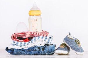 Children clothing and bottle milk