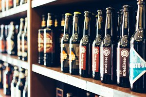 Selection of craft beers