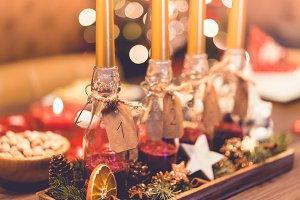 Handmade DIY Advent Candles