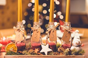 Handmade DIY Advent Candles