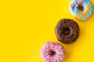 Colorful Donuts Room for Text