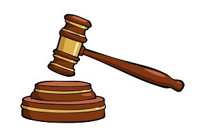 Cartoon gavel