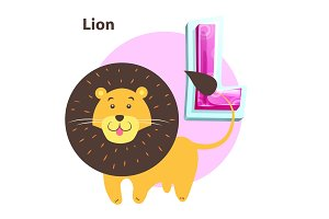 Lion for L Letter in English