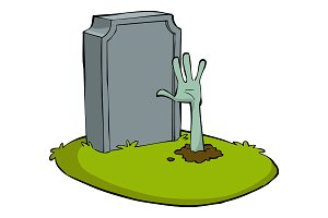 Cartoon grave
