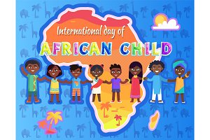 International Day of Child Vector