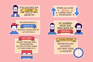 Funny Quotes Badges