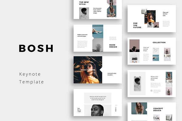 Keynote Templates: PixaSquare - BOSH - Keynote Template