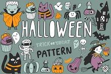 Happy Halloween cartoon cute pattern