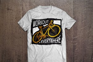 Workout everywhere T-shirt design