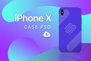 iPhone X - Case PSD mockup