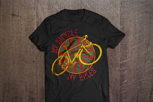 My bicycle, my rules T-shirt design