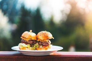 Two Mini Hamburgers