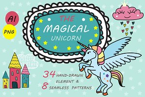 Magical Unicorn - Kids Pattern