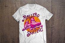 Roller Skating T-shirt design