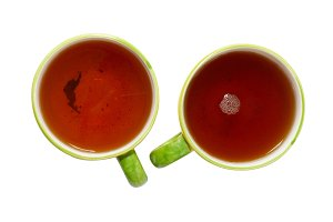 Two teacups with tea