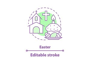 Easter concept icon