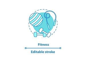 Fitness concept icon