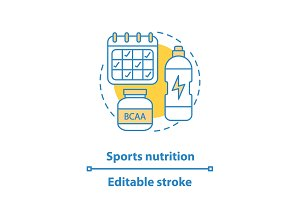Sports nutrition concept icon