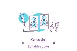 Karaoke concept icon