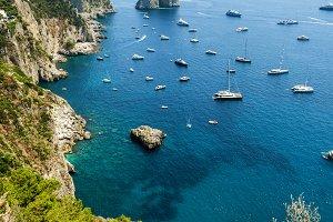 Faraglioni rocks near Capri Island i