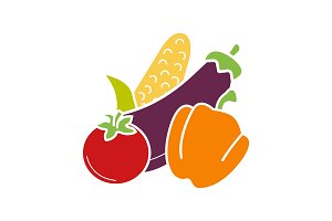 Vegetables glyph color icon