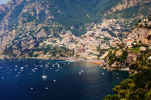 Positano town in Italy