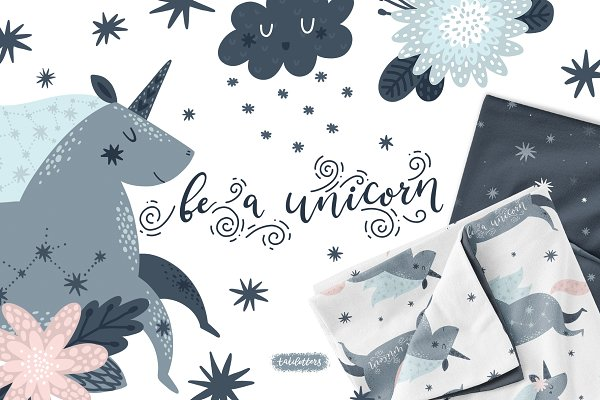 Illustrations and Illustration Products: tatiletters - Unicorns Illustrations & Patterns